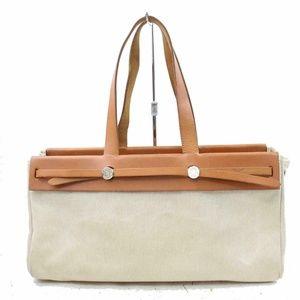 Authentic Hermes Shoulder Bag HerBag Light Brown